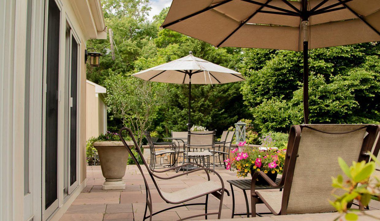hillside patio