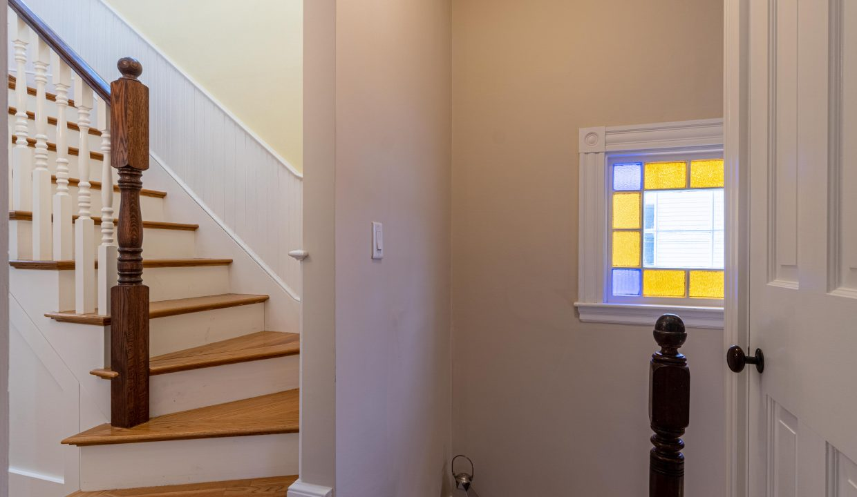 stairs staned glass